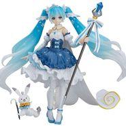 figma キャラクター・ボーカル・シリーズ01 初音ミク 雪ミク Snow Princess Ver. ノンスケール ABS&PVC製 塗装済み可動フィギュア