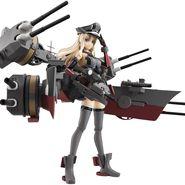 アーマーガールズプロジェクト 艦これ Bismarck drei 約140mm PVC&ABS製 塗装済み可動フィギュア